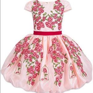 Disney Store Belle Princess Dress Floral Crochet